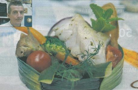 Dos de Cabillaud sur wok de légumes au soja